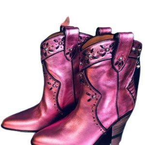 COACH Pink NEW Cowgirl Boots $328